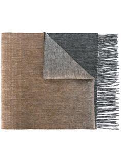 шарф с бахромой и градиентным узором Paul Smith