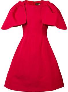 oversized ruffled sleeve dress Christian Siriano