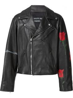 roses print biker jacket Enfants Riches Deprimes