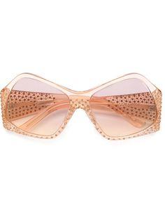 солнцезащитные очки с кристаллами Swarowski Fendi