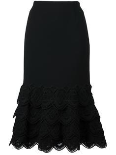 юбка с ажурной окантовкой Jonathan Simkhai
