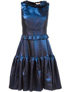 расклешенное платье с рюшами Maria Lucia Hohan