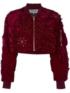 embellished bomber jacket Amen