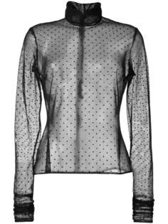 прозрачная блузка с узором в горох Elie Saab