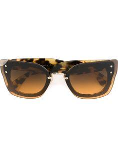 солнцезащитные очки с узором черепашьего панциря Miu Miu Eyewear