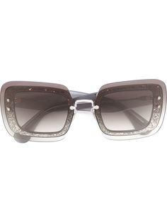 солнцезащитные очки в квадратной оправе с блестками Miu Miu Eyewear
