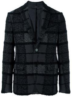 клетчатый пиджак Fendi