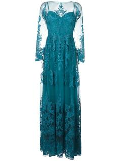 draped sheer maxi dress Zuhair Murad