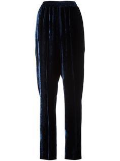 бархатные брюки с завышенной талией Stella McCartney