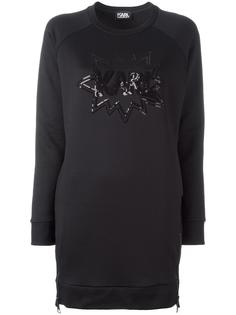 sequin embroidery dress Karl Lagerfeld