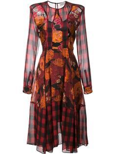 'Daphne' check printed dress Preen By Thornton Bregazzi