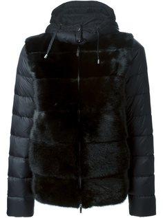 дутая куртка с меховой вставкой P.A.R.O.S.H.