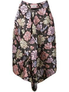 'Mabel' floral asymmetric skirt Preen By Thornton Bregazzi