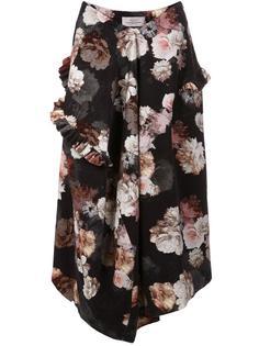 floral print asymmetric skirt Preen By Thornton Bregazzi