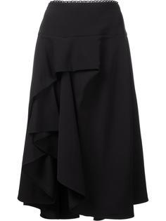 'Ione' ruffled asymmetric skirt Preen By Thornton Bregazzi