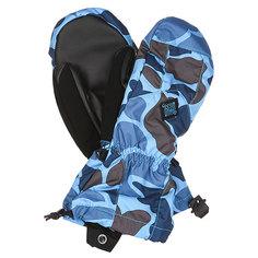 Варежки сноубордические детские Burton Profile Mitt Blu Stl Dark Hntr Camo