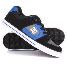 Кеды кроссовки низкие детские DC Pure Black/Blue/Grey