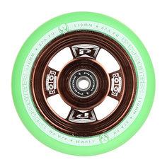 Колесо для самоката Phoenix Rotor Core Wheel 110mm With Abec 9 Bearings Bronze/Green