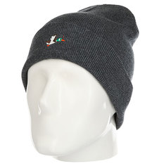 Шапка Запорожец Ditch 86 Beanie Small Dark Grey Melange