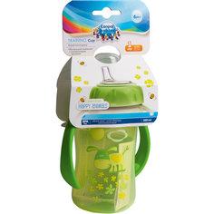 Поильник обучающий с силиконовым носиком и ручками, 320 мл. 6+, Canpol Babies, зеленый
