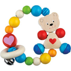 Игрушка-кольцо эластик Мишка с сердцем HEIMESS