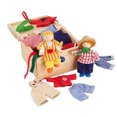 Куклы Берта и Бен с набором одежды  GOKI