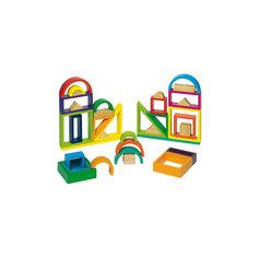 Строительные кубики Рамки Радужные GOKI