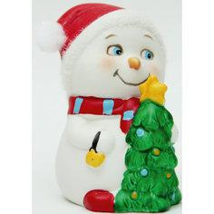 "Новогодняя фигурка снеговика ""Снеговик с елочкой"" Феникс Презент"