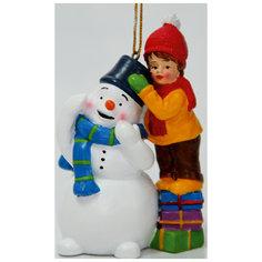 Новогоднее подвесное украшение (5.5*3.5*8см, из полирезины) Феникс Презент