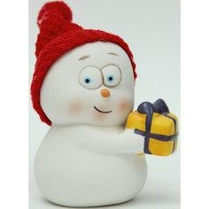 """Новогодняя фигурка снеговика """"Снеговик с подарком"""" Феникс Презент"""