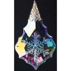 """Новогоднее подвесное елочное украшение """"Капелька """"  (10 см) Феникс Презент"""