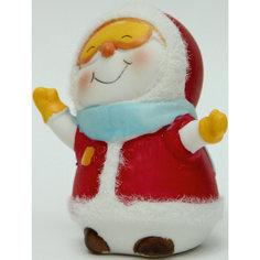 "Новогодняя фигурка снеговика ""Снеговик - лыжник""(8см, керамика) Феникс Презент"