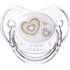 Пустышка круглая силиконовая, 6-18 Newborn baby, Canpol Babies, белый