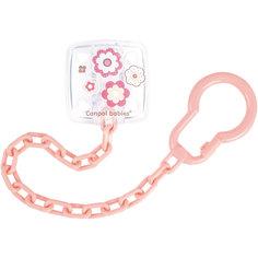 Клипса-держатель для пустышек, 0+ Newborn baby, Canpol Babies, розовый