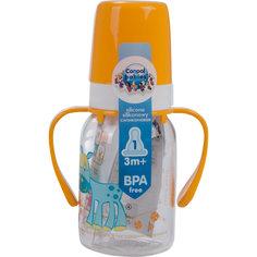 Бутылочка тритановая Лошадка 120 мл. 3+ Cheerful animals, Canpol Babies