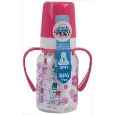 Бутылочка тритановая 120 мл. 3+, Canpol Babies, розовый