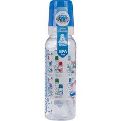 Бутылочка тритановая 250 мл. 12+ Machines, Canpol Babies, синий