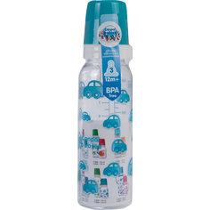 Бутылочка тритановая (BPA 0%) с сил. соской, 250 мл. 12+, Canpol Babies, бирюзовый