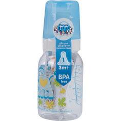 Бутылочка тритановая (BPA 0%) с сил. соской, 120 мл. 3+ Cheerful animals, Canpol Babies, ослик