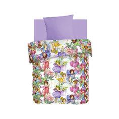 Постельное белье 1,5 Цветочные феи (нав.70*70) бязь, Непоседа, лиловый