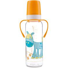 Бутылочка тритановая Лошадка 250 мл. 12+ Cheerful animals, Canpol Babies