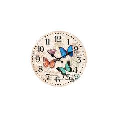 """Часы настенные """"Разноцветные бабочки"""", диаметр 34 см Белоснежка"""