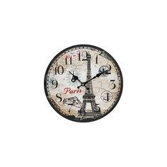 """Часы настенные """"Эйфелева башня"""", диаметр 34 см Белоснежка"""