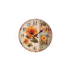 """Часы настенные """"Подсолнух"""", диаметр 34 см Белоснежка"""