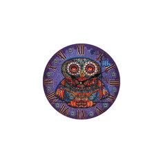 """Часы настенные """"Волшебная сова"""", диаметр 34 см Белоснежка"""