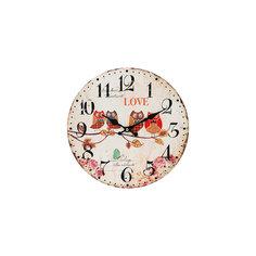 """Часы настенные """"Совы на ветке"""", диаметр 34 см Белоснежка"""