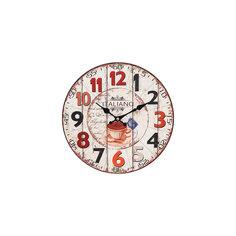 """Часы настенные """"Кофе из Италии"""", диаметр 34 см Белоснежка"""