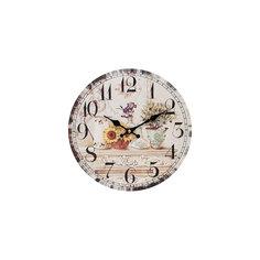 """Часы настенные """"Цветы и олива"""", диаметр 34 см Белоснежка"""