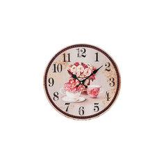 """Часы настенные """"Розы"""", диаметр 34 см Белоснежка"""