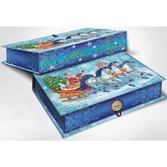 """Подарочная коробка """"Дед Мороз на тройке"""" 20*14*6 см Magic Time"""